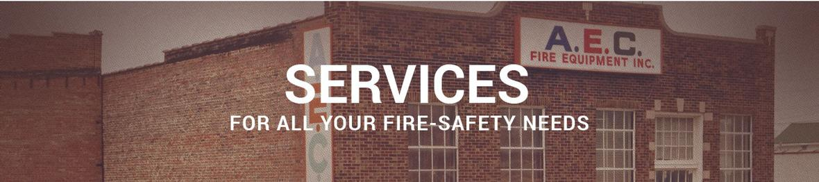Banner picture for AEC Fire Services page